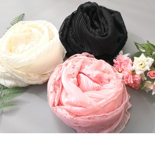 "<font color=""bb4b57""><b>Limited quantity SALE</b></font> <br> Race Pleats Long Scarf"